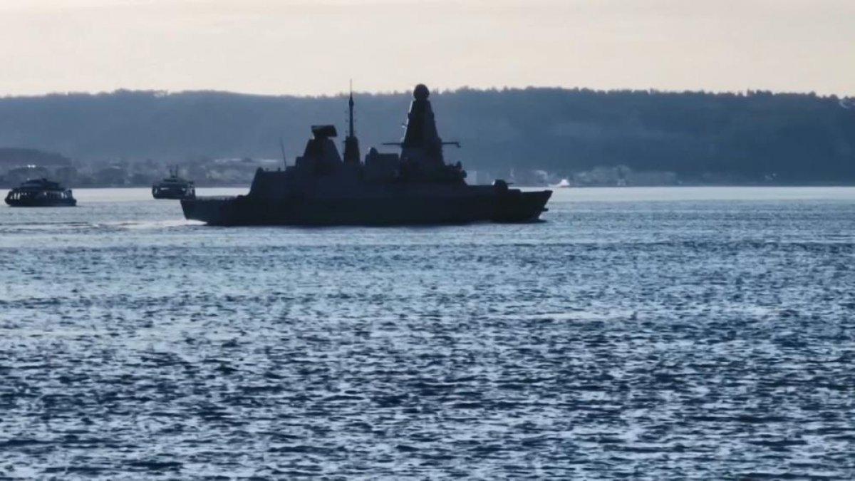 İngiliz savaş gemisi, Çanakkale Boğazı ndan geçti #3