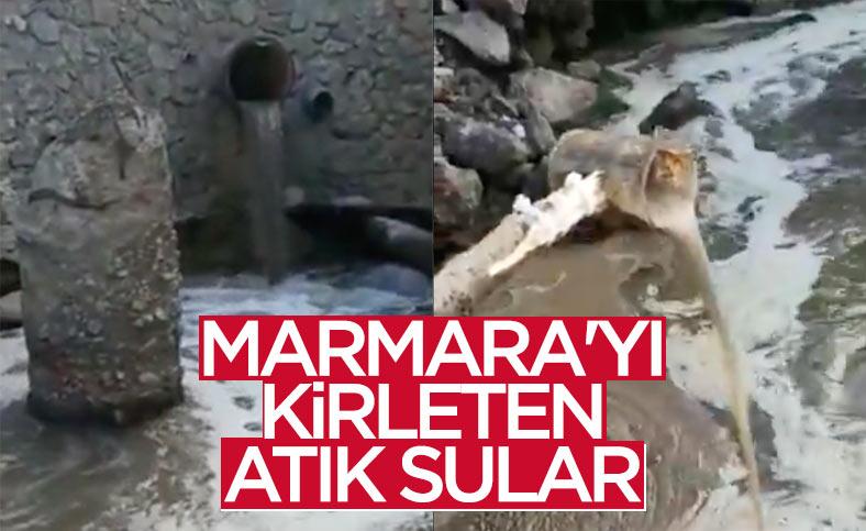 Kocaeli'de atık sular Marmara Denizi'ne dökülürken görüntülendi