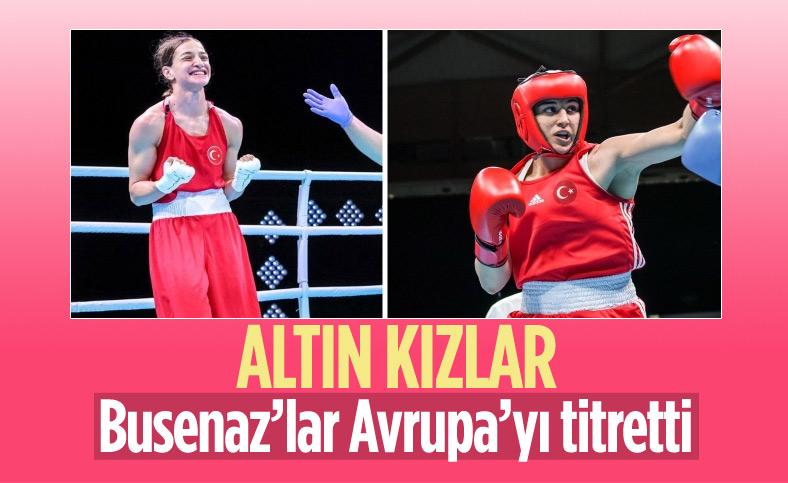 Buse Naz Çakıroğlu ve Busenaz Sürmeneli'den Avrupa'da altın madalya