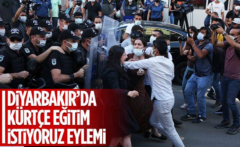 Diyarbakır'da Kürtçe eğitim isteyenlerle polis arasında arbede