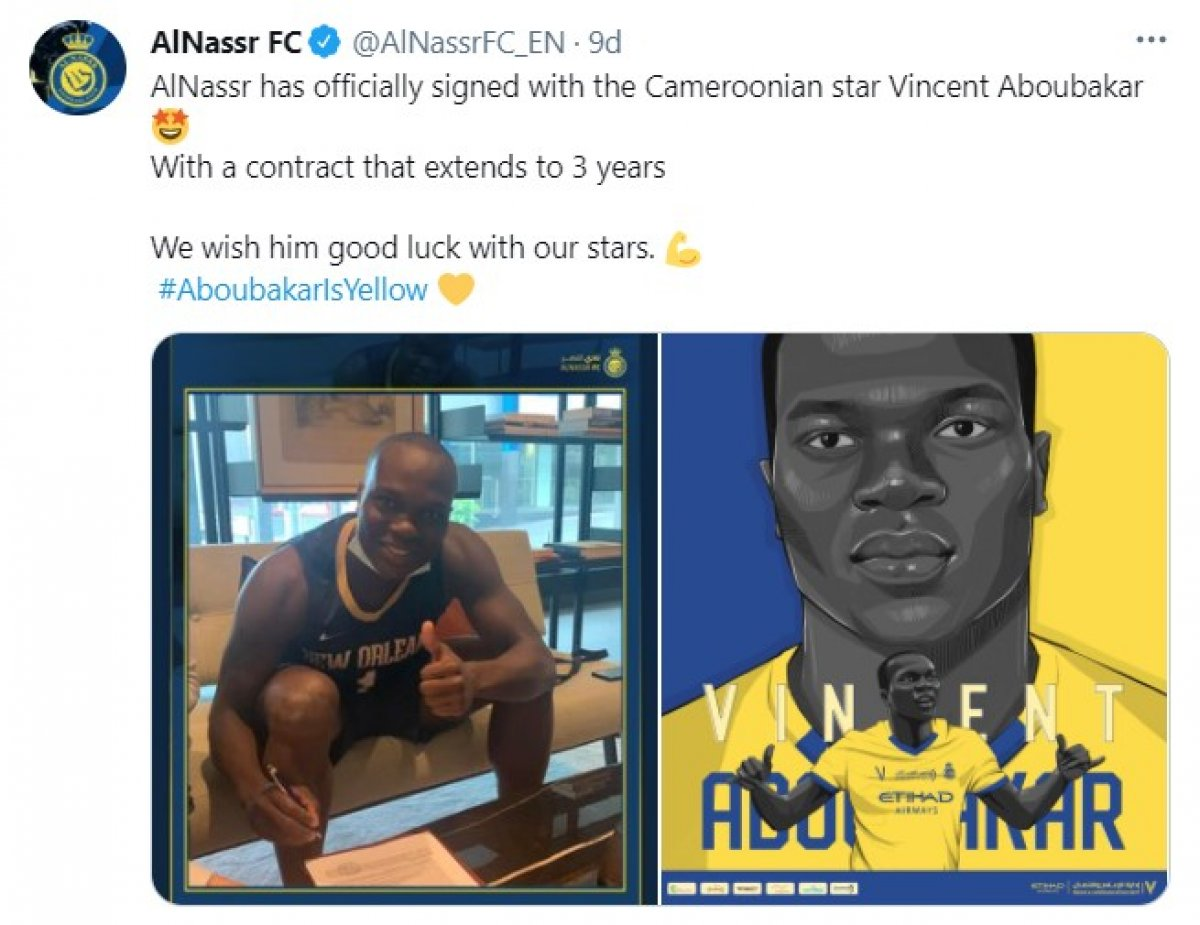 Vincent Aboubakar, Al-Nassr a transfer oldu #1