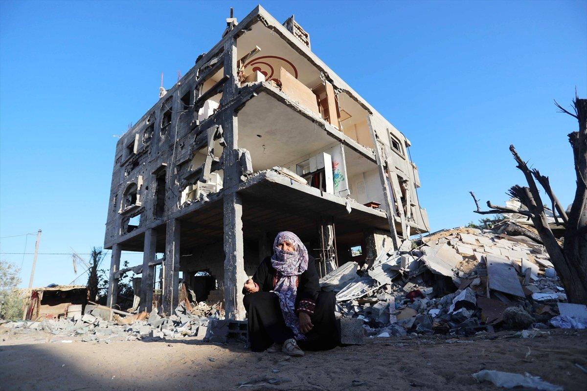 Filistinliler harabeye dönen evlerine geri döndü #6