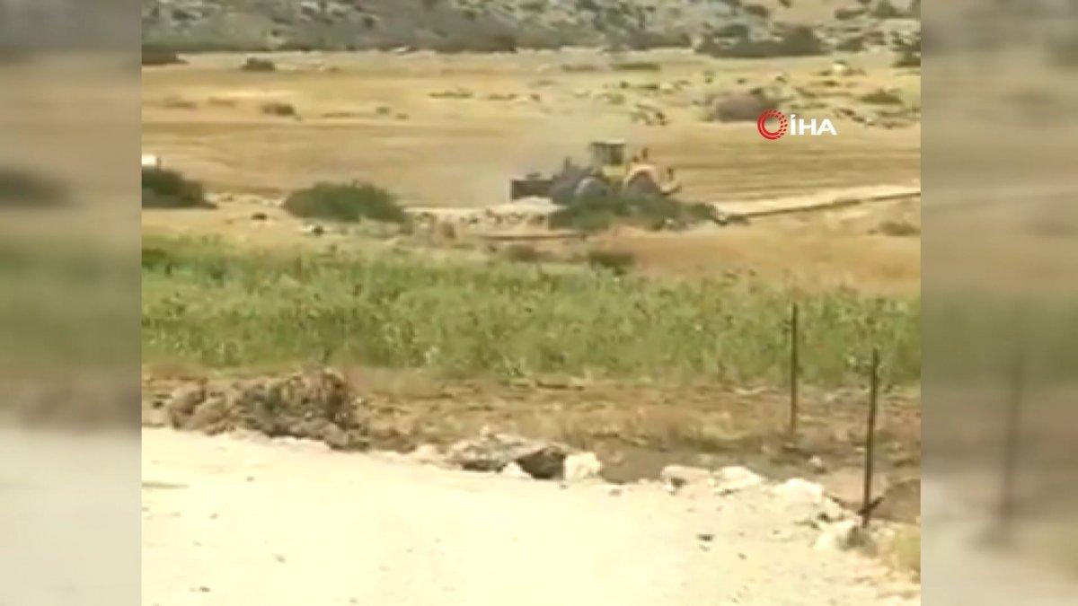 Batı Şeria'da, İsrail güçleri Filistinlilere ait sulama göletini talan etti  #1