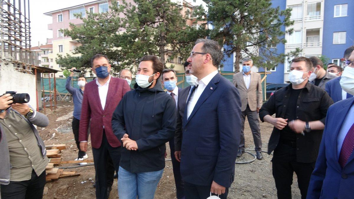 Mehmet Muharrem Kasapoğlu Çankırı da yapımı süren havuz inşaatını inceledi #1