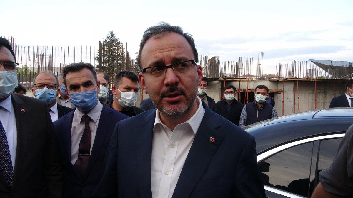 Mehmet Muharrem Kasapoğlu Çankırı da yapımı süren havuz inşaatını inceledi #4