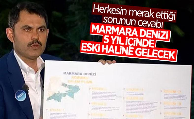 Murat Kurum: Marmara Denizi 5 yıl içinde eski haline gelecek