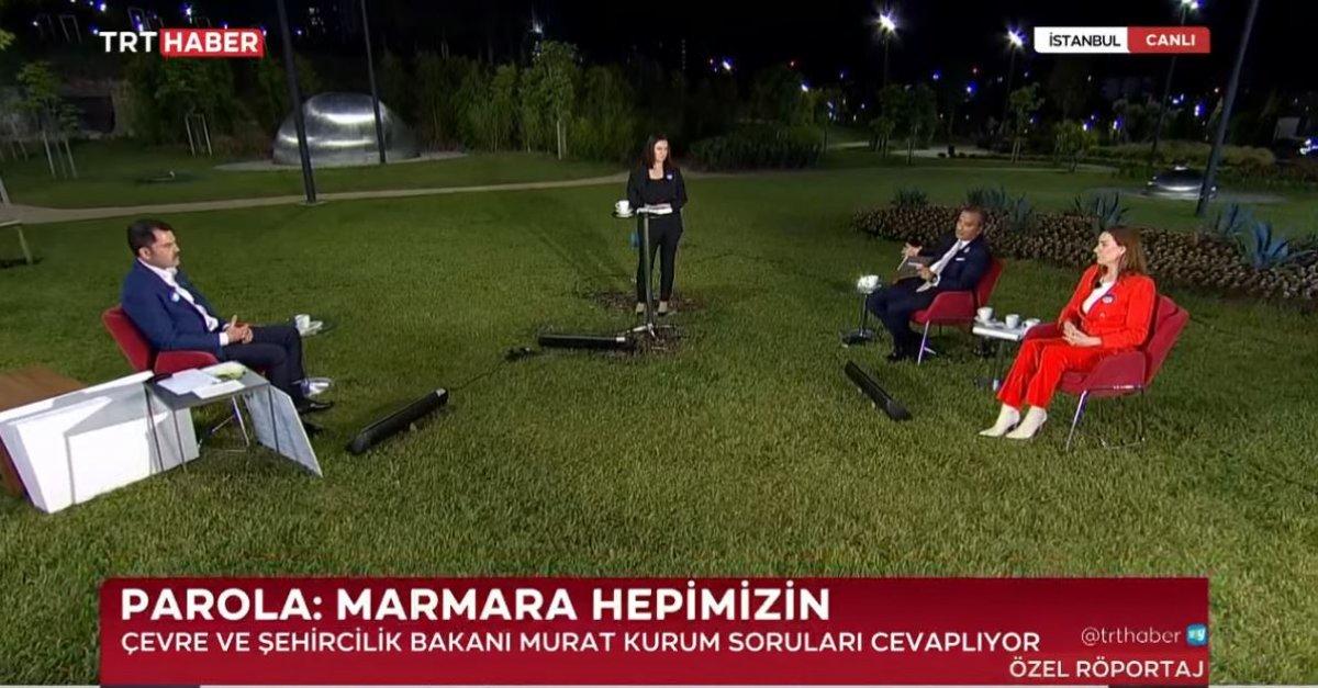 Murat Kurum: Marmara Denizi 5 yıl içinde eski haline gelecek #1