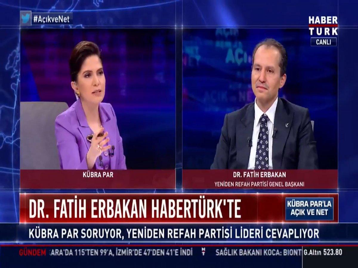 Fatih Erbakan: HDP nin kapatılmasını PKK nın işine yarar #1