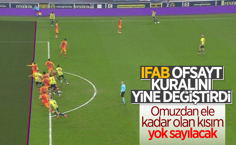 IFAB'dan yeni ofsayt kuralı