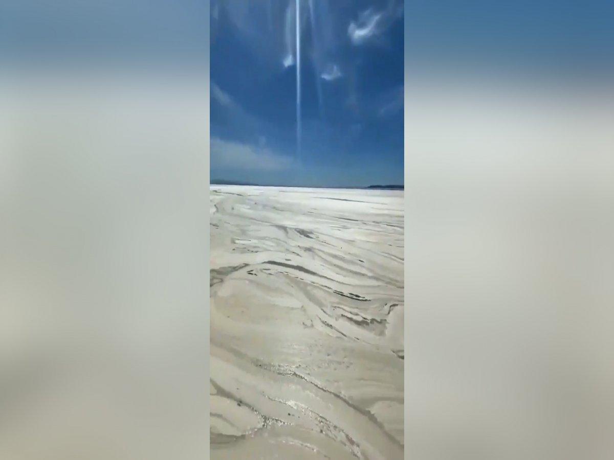 Balıkesir e bağlı Erdek sahilli tamamen müsilaj ile kaplandı #3