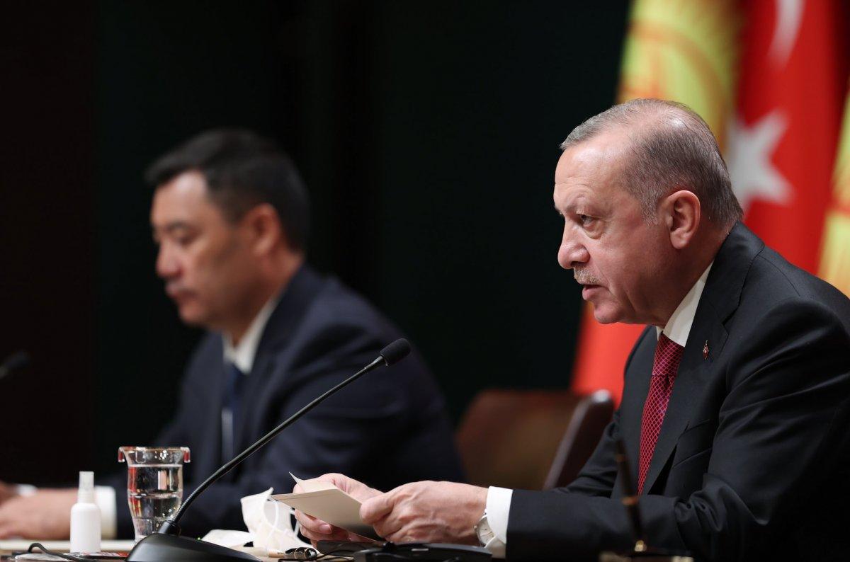 Cumhurbaşkanı Erdoğan: Kırgızistan la ticaret hacmindeki hedefimiz 1 milyar dolar #2