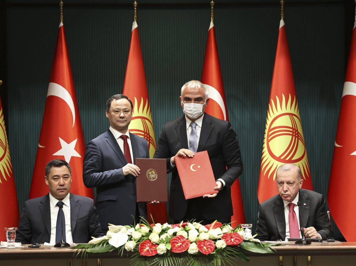 Cumhurbaşkanı Erdoğan: Kırgızistan la ticaret hacmindeki hedefimiz 1 milyar dolar #4