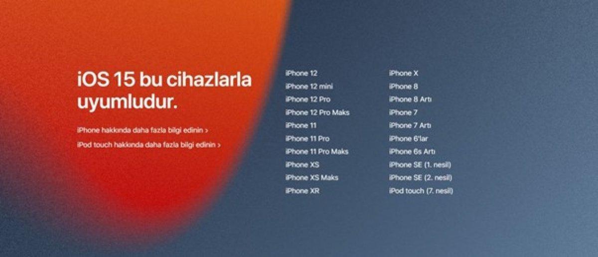 Apple, iOS 15 i tanıttı: Hangi iPhone lar iOS15 güncellemesi alacak? #1