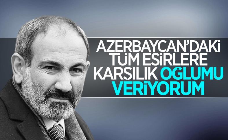 Nikol Paşinyan, Azerbaycan'dan oğluna karşı tüm Ermeni esir askerleri geri istedi
