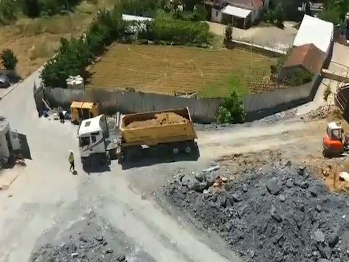 İBB, Yenidoğan Metro Hattı inşaatını hafriyatla kapatmayı sürdürüyor #1
