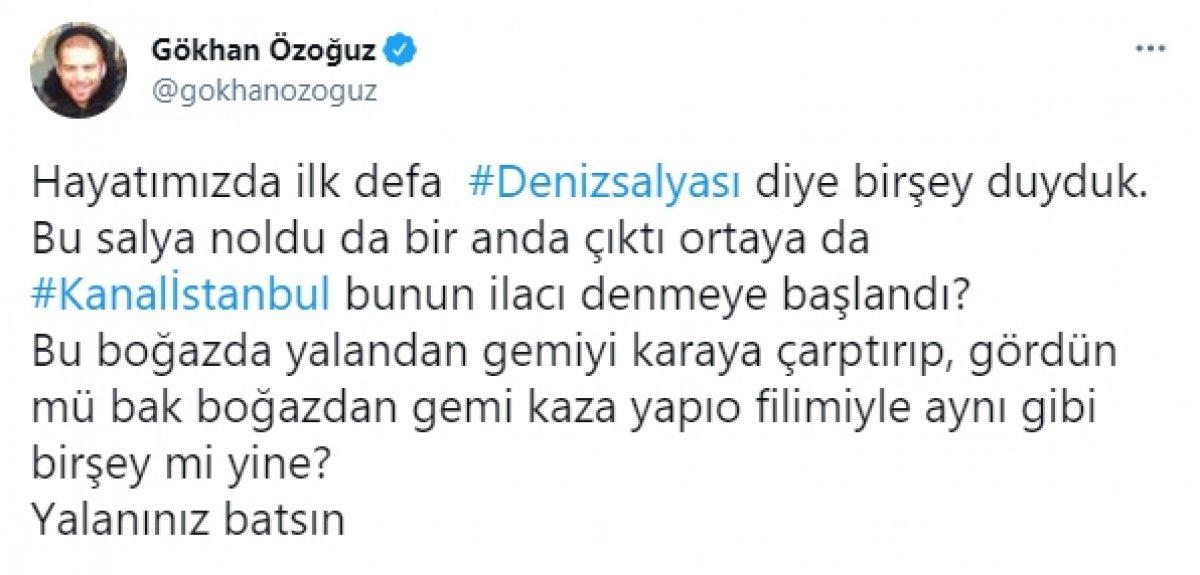 Gökhan Özoğuz a göre deniz salyaları Kanal İstanbul için ortaya çıktı #1
