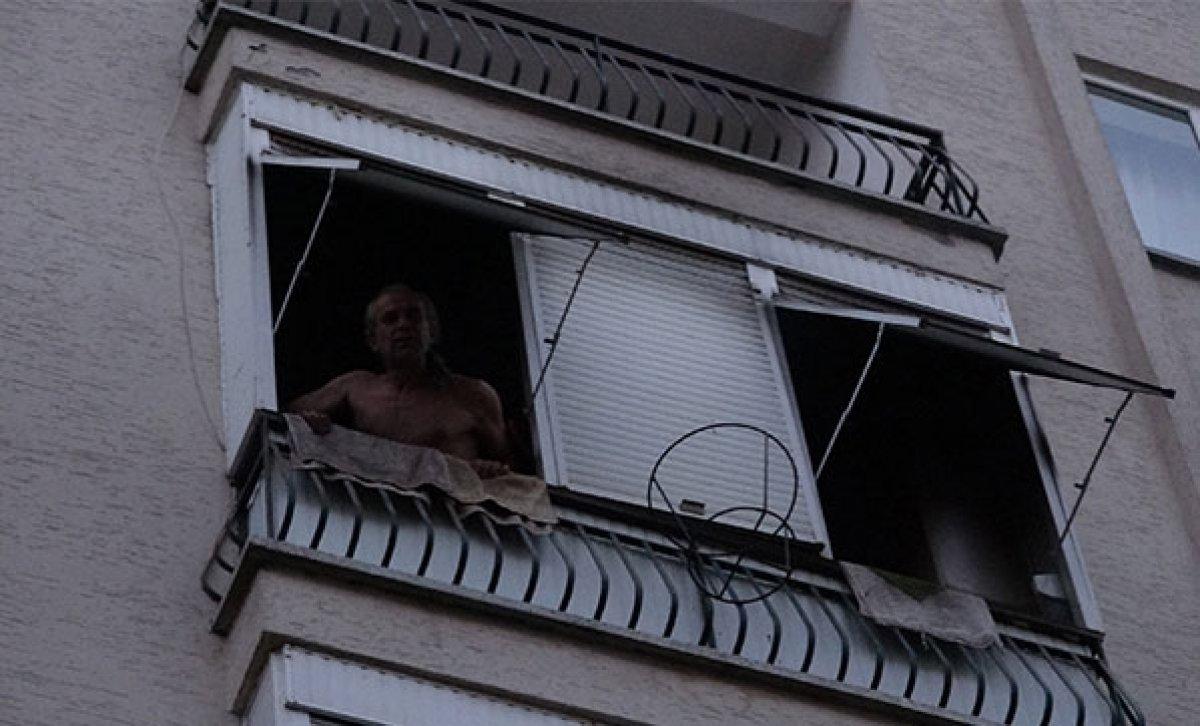 Antalya da balkonda yangın çıkaran kişi komşularına bağırdı: Çileden çıkarttınız beni  #1