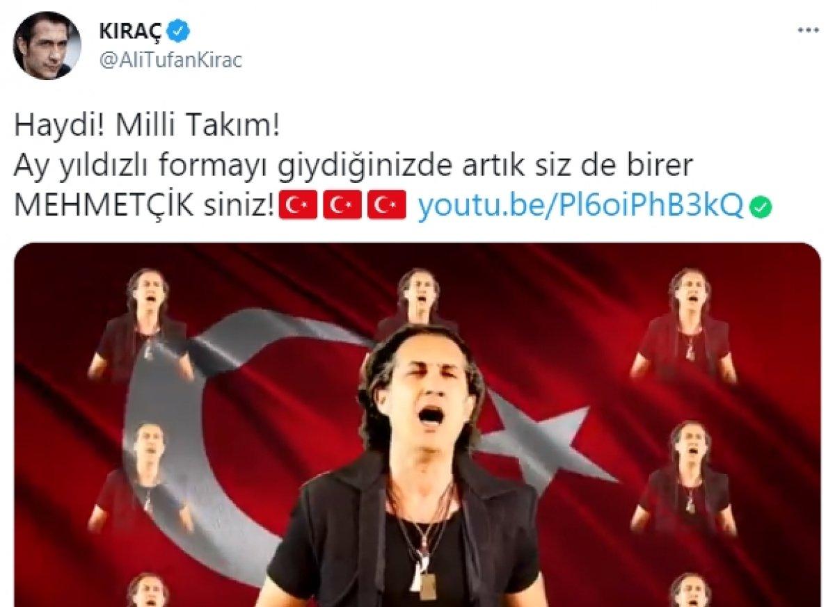 Kıraç ın milli takım futbolcularına şarkısında Mehmetçik demesi tepki topladı #1