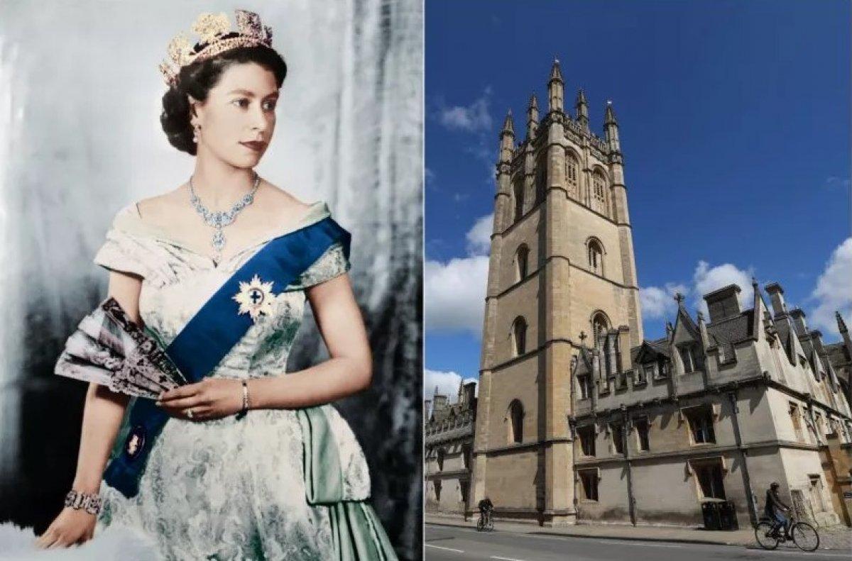 Oxford Üniversitesi öğrencileri Kraliçe 2. Elizabeth in portresini kaldırdı #2