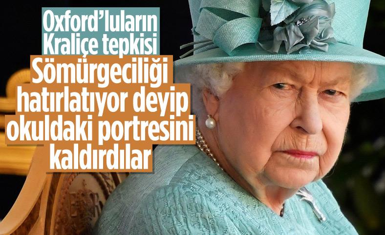 Oxford Üniversitesi öğrencileri Kraliçe 2. Elizabeth'in portresini kaldırdı