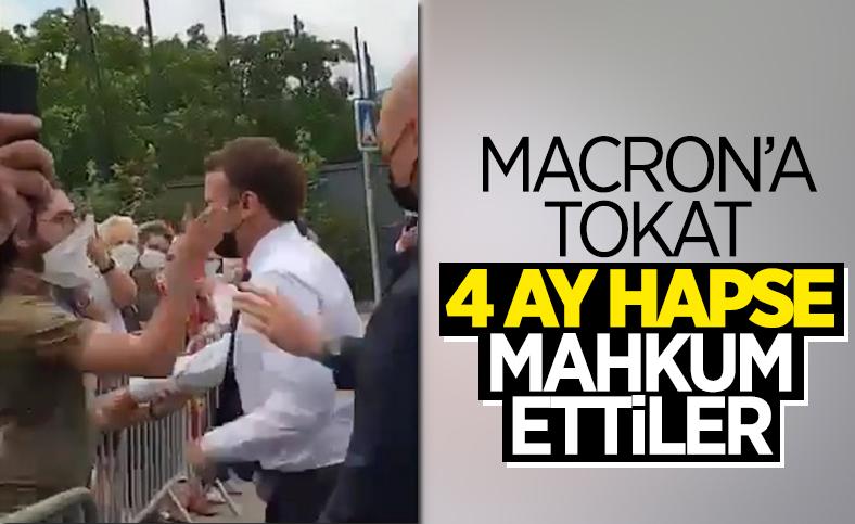Emmanuel Macron'a tokat atan kişiye 4 ay hapis cezası