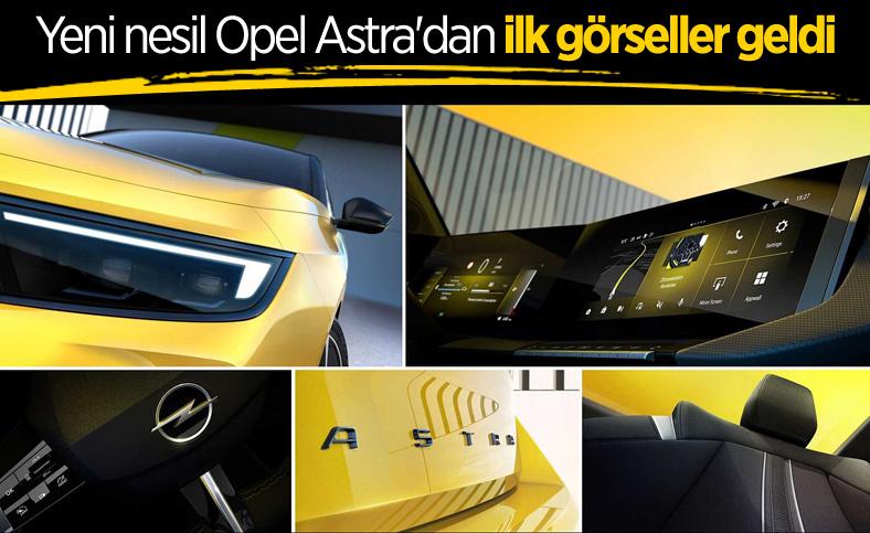 2022 Opel Astra'nın tasarımını gösteren ilk ipucu görselleri