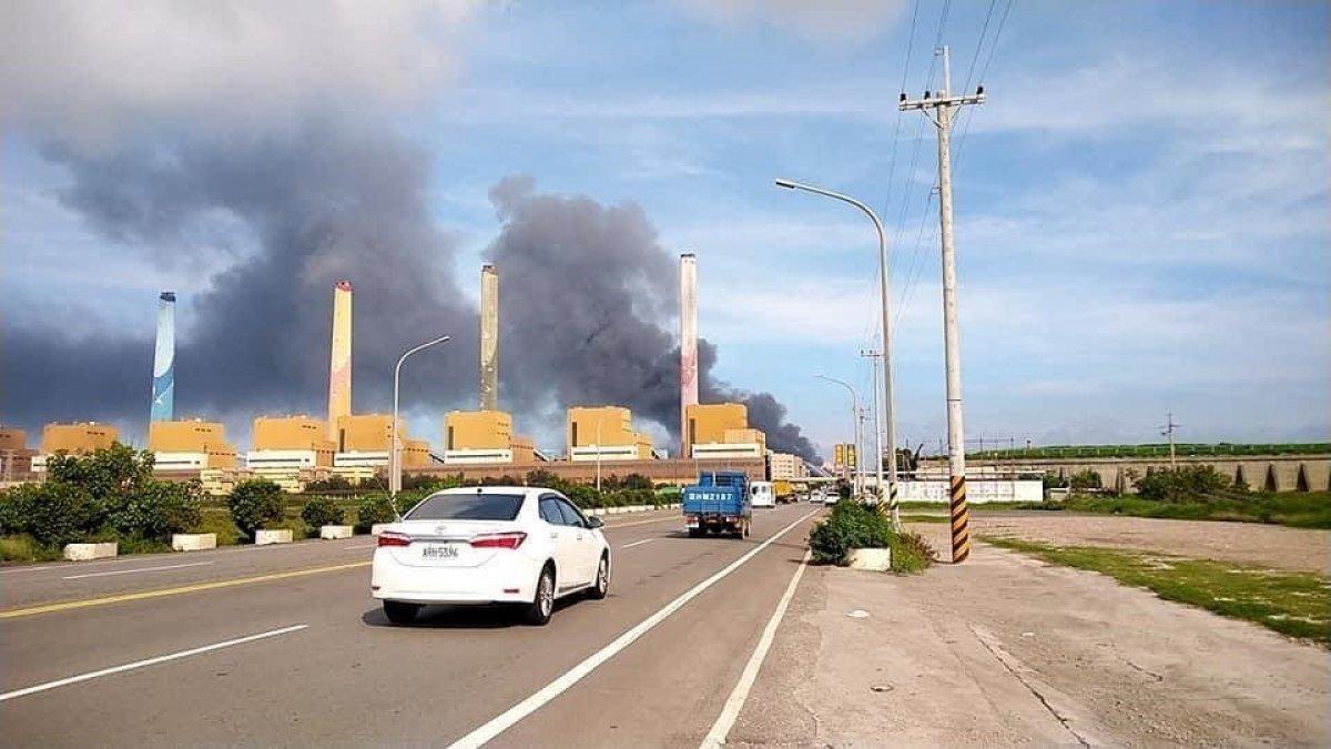 Tayvan'da, dünyanın 4'üncü büyük elektrik santralinde yangın çıktı #3