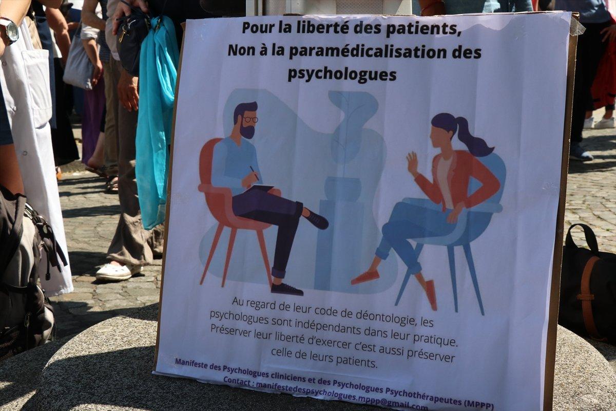 Fransa da psikologlar gösteri düzenledi #5