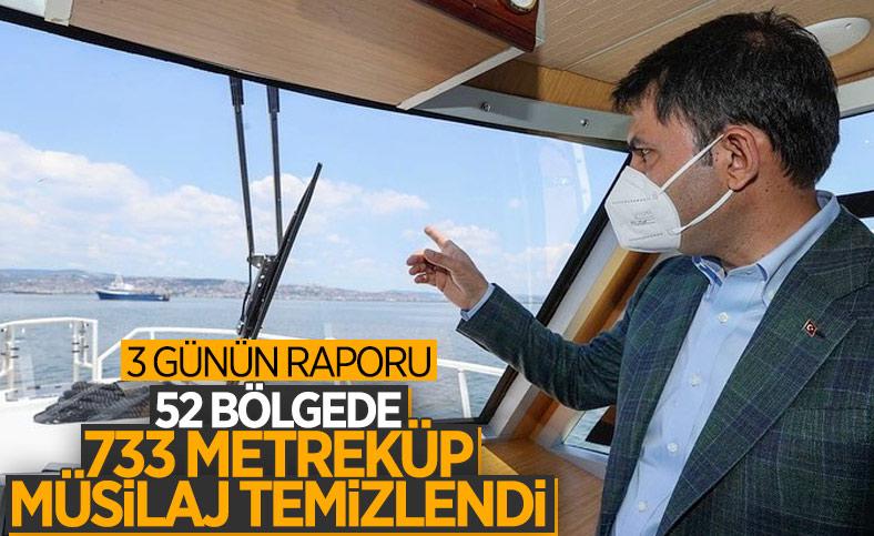 Murat Kurum: 733,1 metreküp müsilajı bertarafa gönderdik