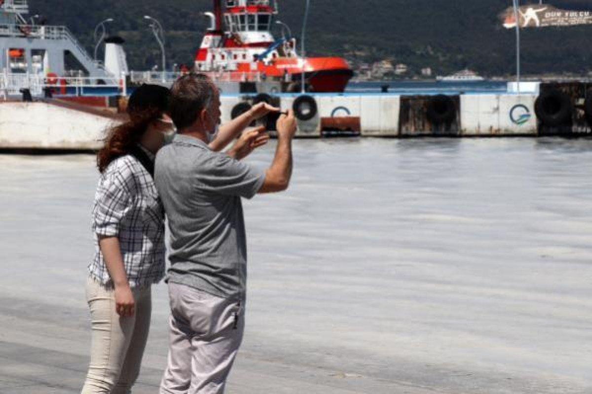Çanakkale Boğazı temizleniyor: 3 günde 37 metreküp müsilaj toplandı #8