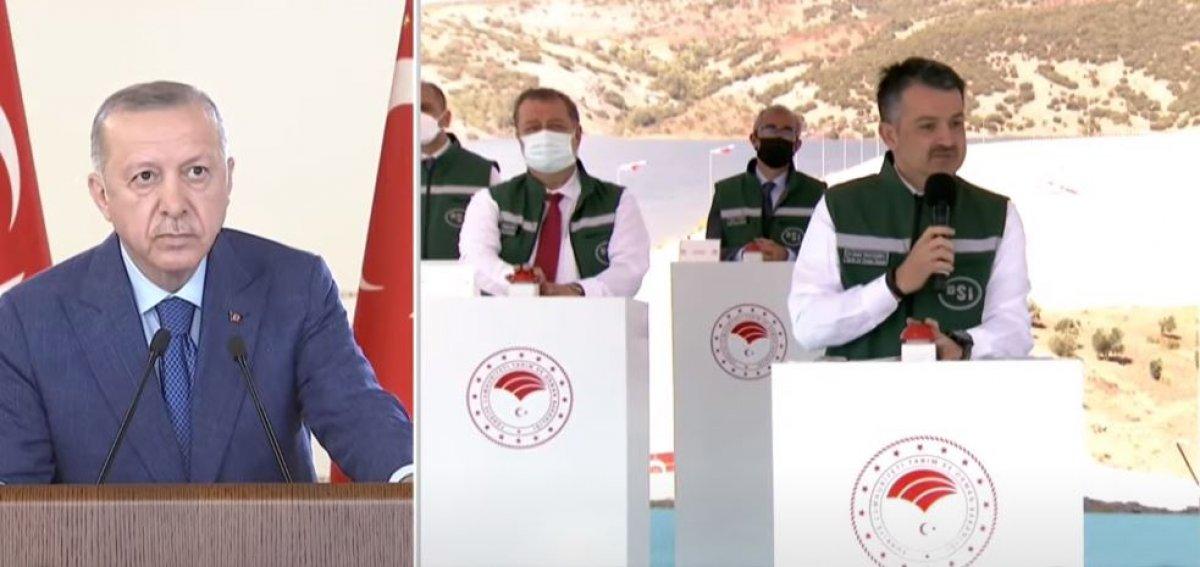 Cumhurbaşkanı Erdoğan, Yukarı Afrin Barajı ve İsale Hattı nın açılış törenine katıldı #1