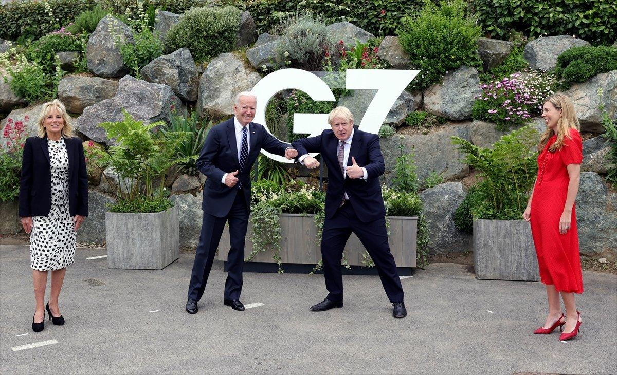 Joe Biden ve Boris Johnson G7 öncesi yüz yüze görüştü #2