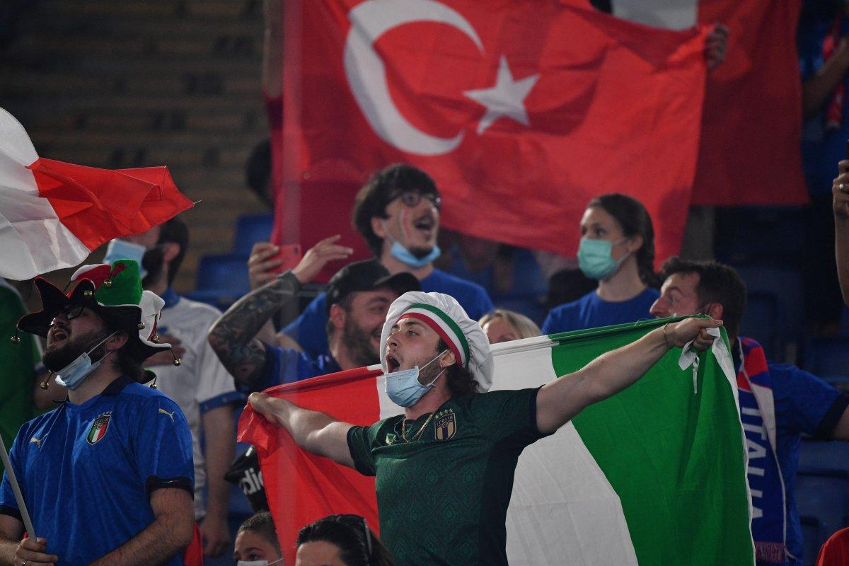 İtalya-Türkiye maçından renkli kareler #6