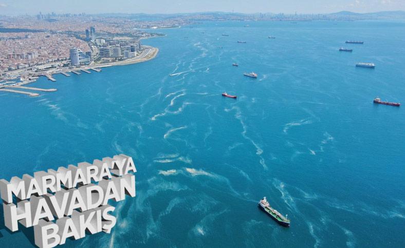 İstanbul sahillerinde kilometrelerce müsilaj hattı