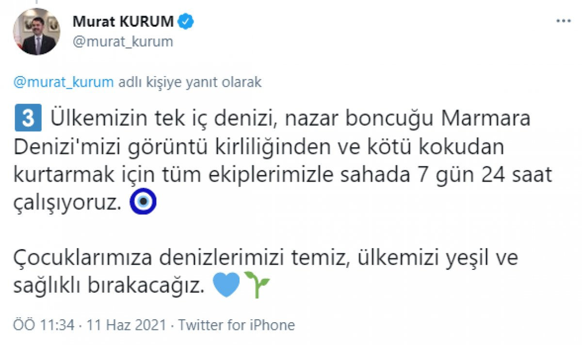 Murat Kurum: 733,1 metreküp müsilajı bertarafa gönderdik #4