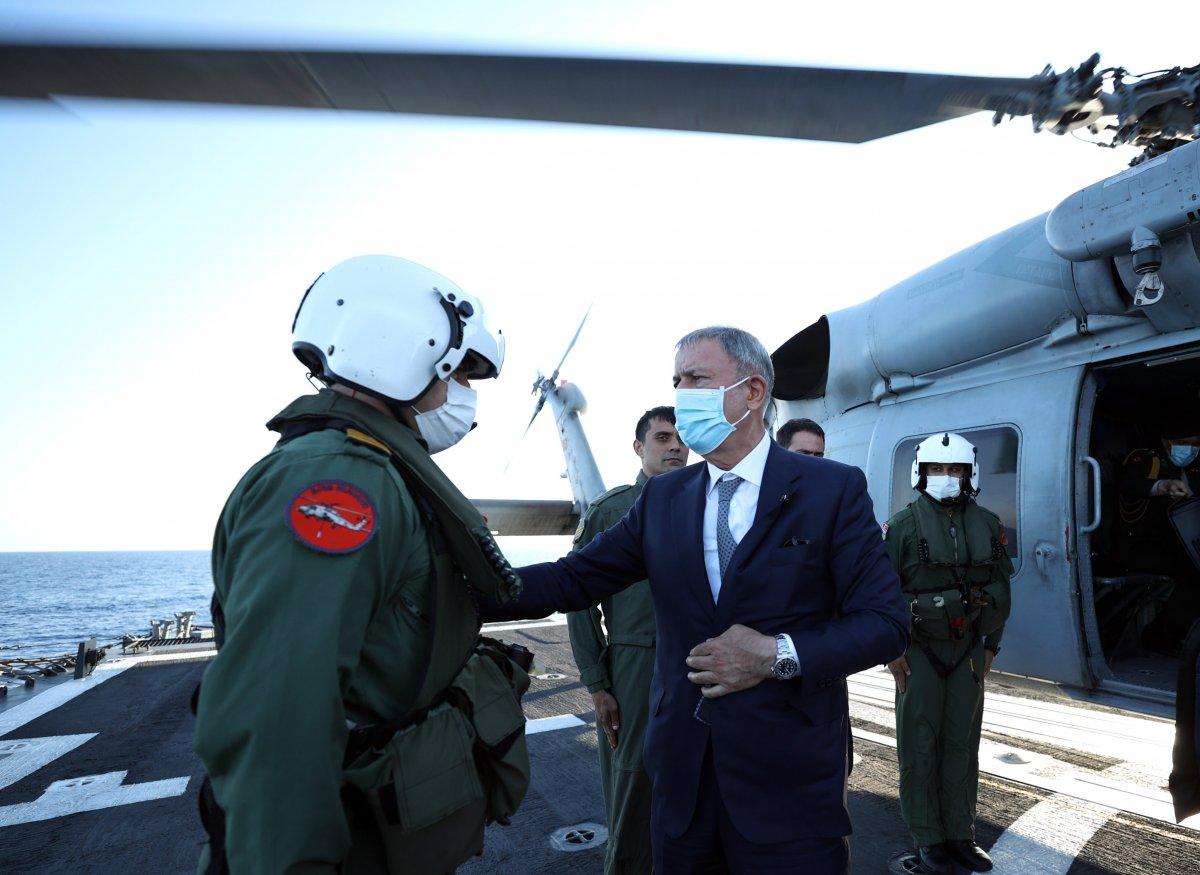 Hulusi Akar, Libya Görev Grup Komutanlığı nı ziyaret etti  #5