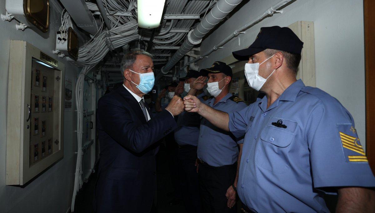 Hulusi Akar, Libya Görev Grup Komutanlığı nı ziyaret etti  #4