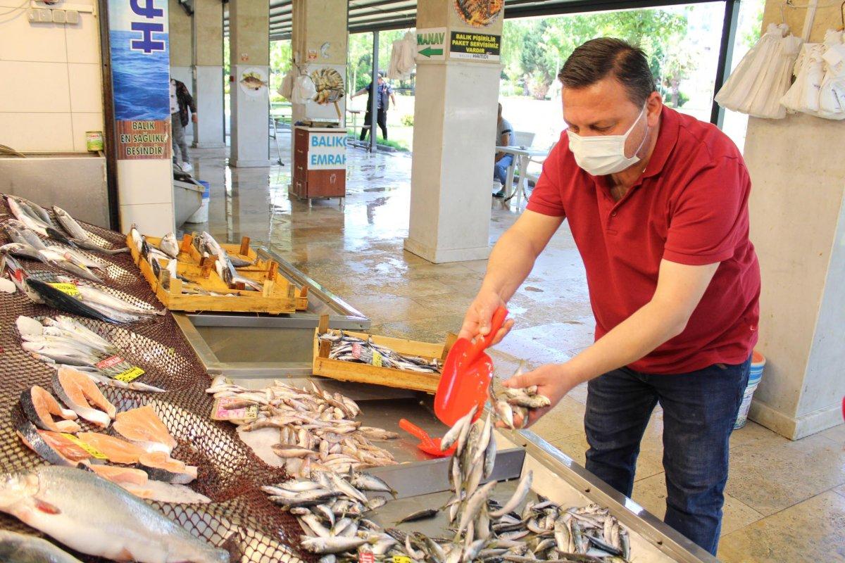 İzmit'te müsilaj, müşterinin ayağını balık pazarından kesti  #4