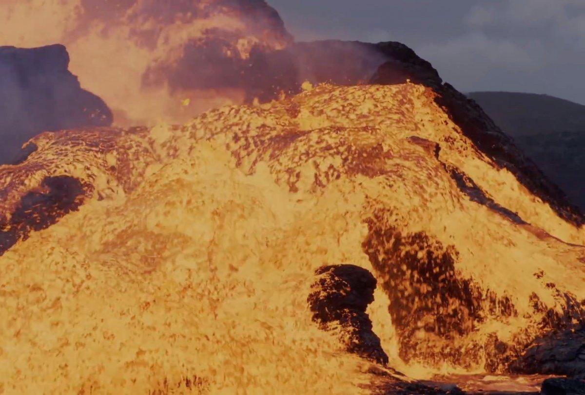 Fagradals Yanardağı lav püskürttü #3