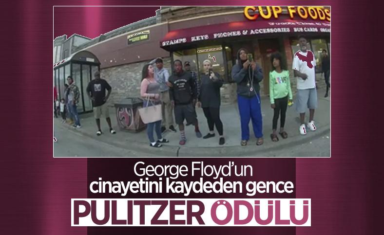 George Floyd'un cinayetini kaydeden gence Pulitzer Özel Ödülü