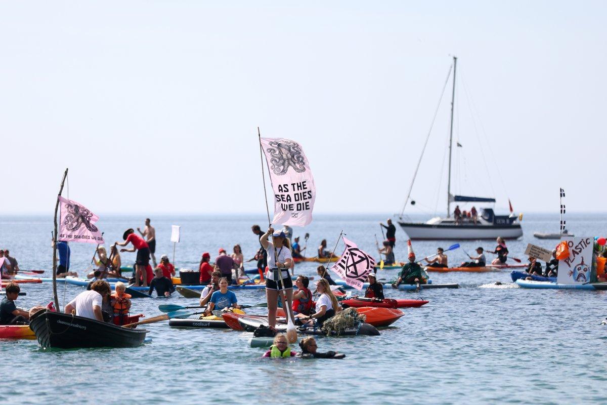 G7 Zirvesi nde iklim değişikliği protestosu #13