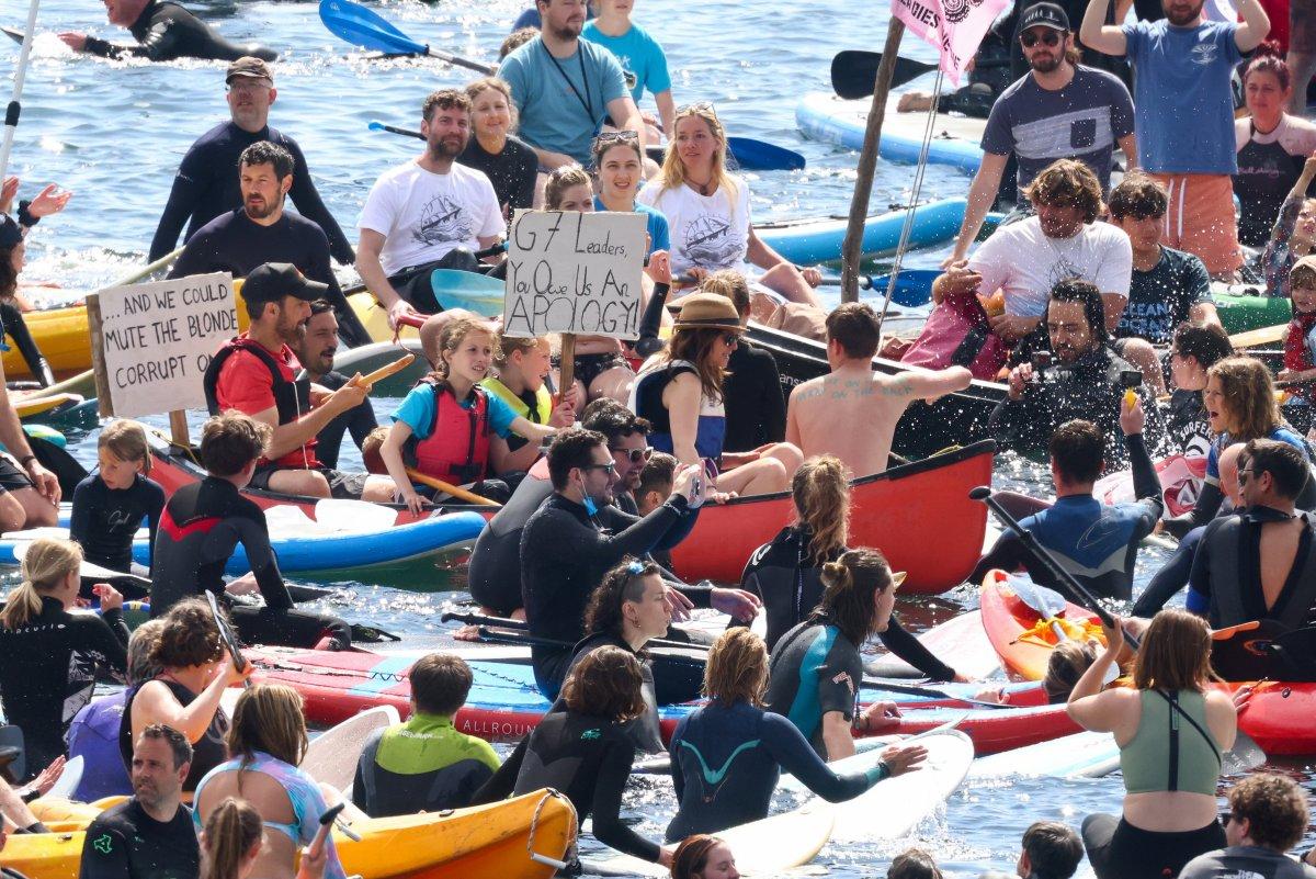 G7 Zirvesi nde iklim değişikliği protestosu #4