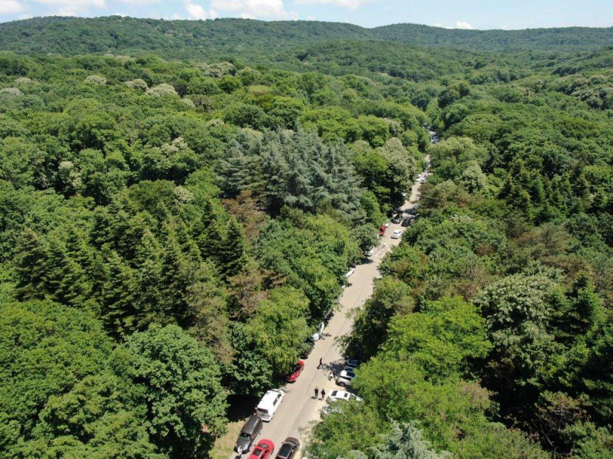 Belgrad Ormanı girişinde kilometrelerce araç kuyruğu #9