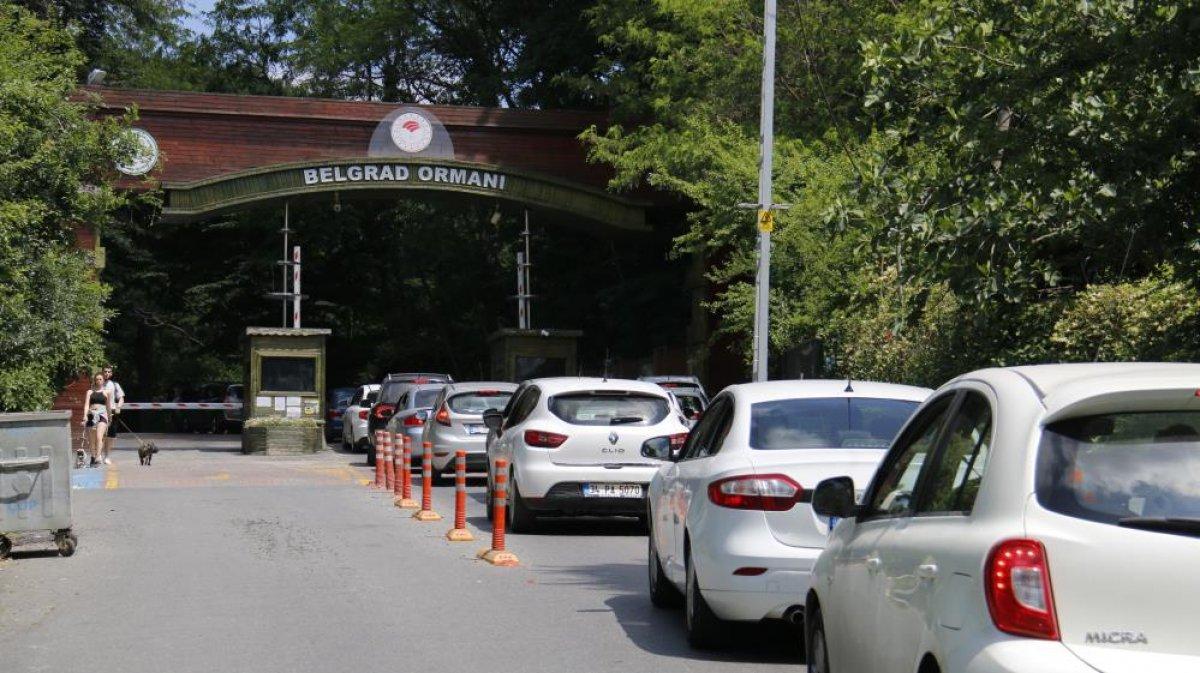 Belgrad Ormanı girişinde kilometrelerce araç kuyruğu #1