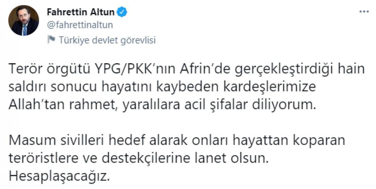 Fahrettin Altun: Masum sivilleri katleden teröristlerle hesaplaşacağız #1