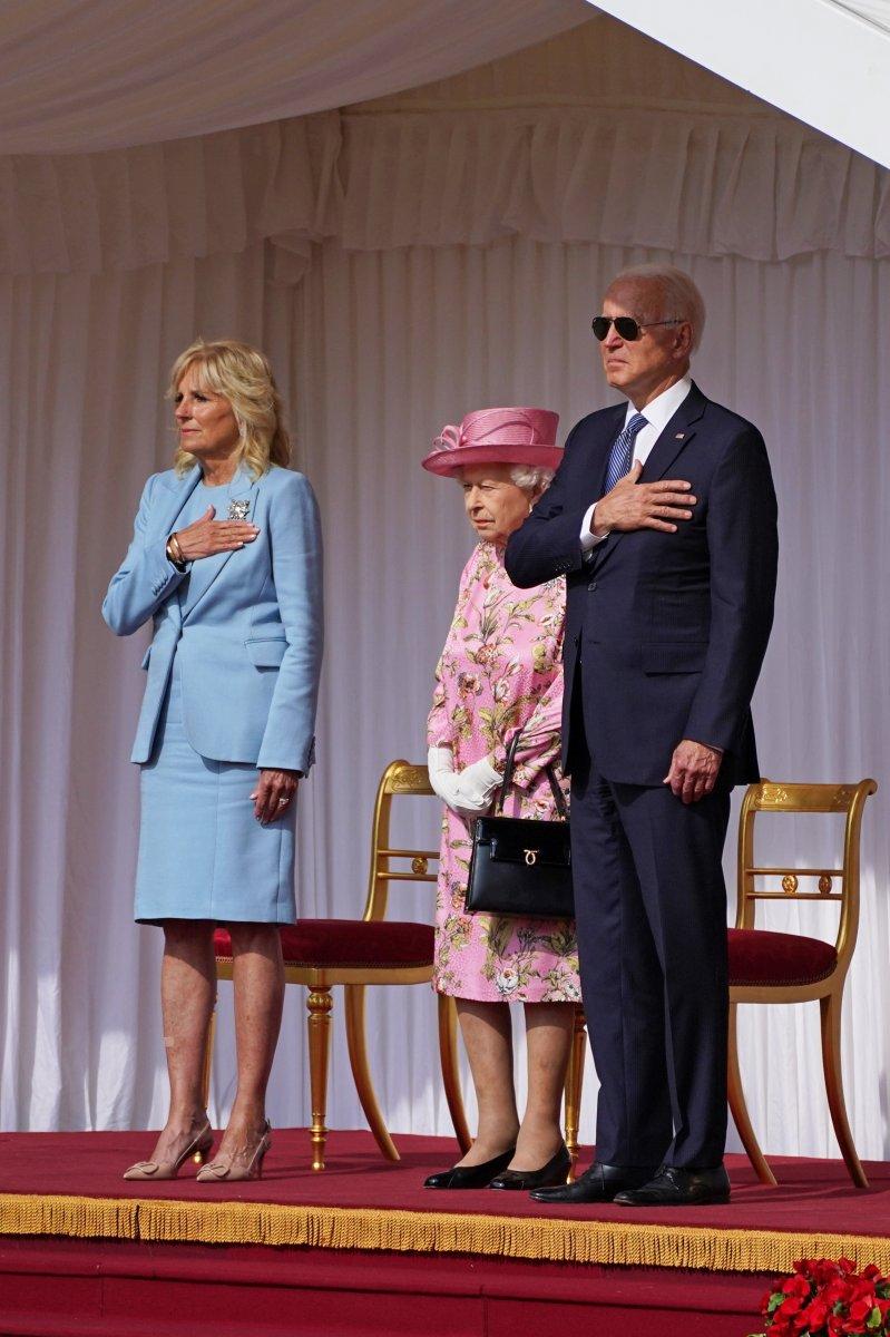 Joe Biden, İngiltere Kraliçesi II.Elizabeth ile bir araya geldi #3