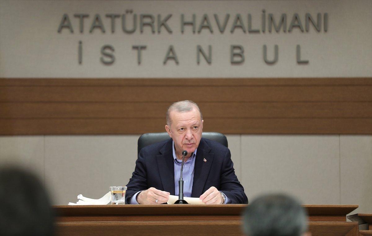 Cumhurbaşkanı Erdoğan, Afrin deki kalleş saldırıyı kınadı #1