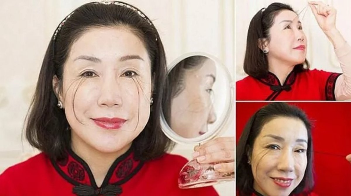 Çinli kadın kirpikleriyle ikinci kez dünya rekoru kırdı #1