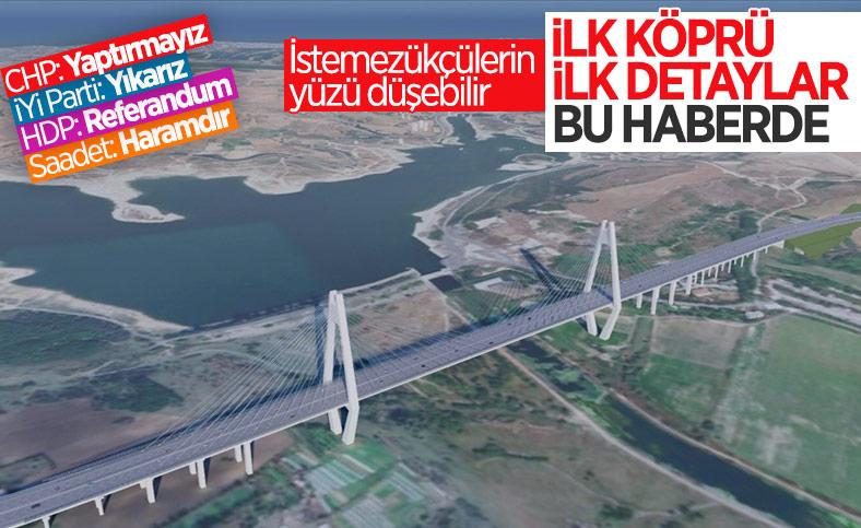 Kanal İstanbul'un ilk köprüsünün ayrıntıları