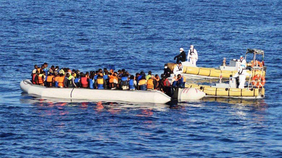 Libya'da 2 günde binden fazla göçmen yakalandı #1